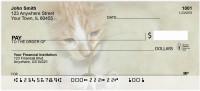 Flowers & Cats Personal Checks | ANJ-11