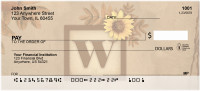 Sunflowers Monogram - W | BBJ-66