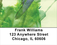 Green Acrylics Address Labels | LBABS-50