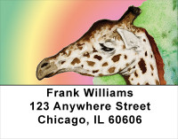 Giraffe Watercolor Portrait Address Labels | LBANK-43