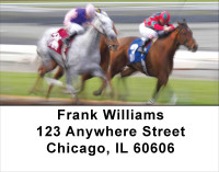 Racing The Ponies Address Labels | LBANK-50