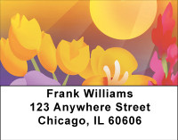 Garden Party Address Labels | LBBBA-28