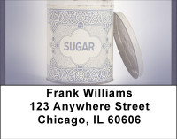 Vintage Canisters Address Labels | LBBBC-35