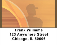 Baseball Sunrise Address Labels | LBBBC-90
