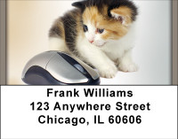 Cat And Mouse Address Labels | LBBBE-55