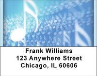 Music Note Blues Address Labels | LBBBF-93