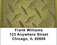 Go Green With Diamond Plate Address Labels
