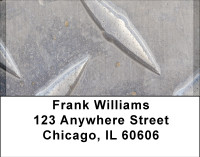 Steel Diamond Plate Address Labels