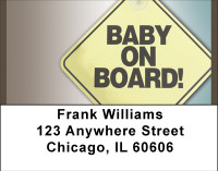 Baby On Board Address Labels | LBBBH-86