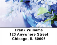 Blossoms In Pink and Blue Address Labels | LBFLO-06