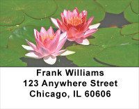 Water Lilies Address Labels | LBFLO-28