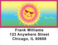 Sun Daze Address Labels | LBFUN-65