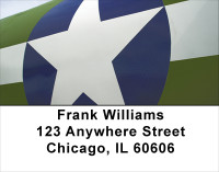 On Metal Air Force Address Labels | LBMIL-21