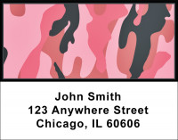 Camouflage - Pinks And Corals Address Labels | LBMIL-27