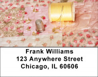 Pink Rose Quilt Address Labels
