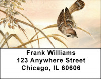 Sparrow And butterfly Address Labels | LBQBA-60