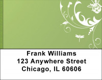 Dragonfly Filigree Address Labels | LBQBC-09