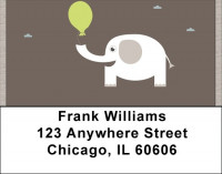 Lucky White Elephants Address Labels | LBQBC-19