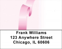 Pink Ribbons Of Hope Address Labels | LBQBE-10