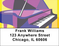 Pop 'Art Grand Piano Address Labels | LBQBE-96