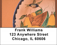 Handpainted Mexican Pottery Address Labels | LBQBF-26