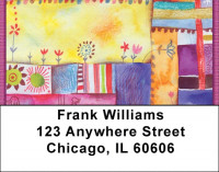 Quilt Inspired Americana Art Address Labels