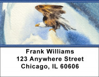 American Eagle In Watercolor Address Labels | LBZANK-06