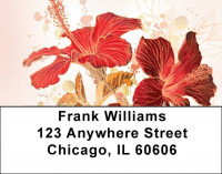 Hibiscus - Colorful Watercolor Address Labels | LBZFLO-63