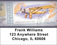 Vintage Airplane Stamps Address Labels | LBZFUN-05
