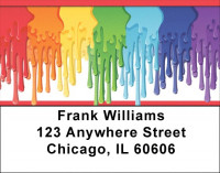 Painting Rainbows Address Labels | LBZGEO-39