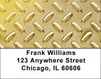 Diamond Plate Multi-Color Address Labels