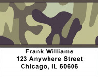 Camouflage Browns and Golds Address Labels | LBZMIL-08