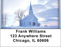 Church And Steeples Address Labels | LBZREL-16