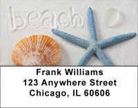 Beachy Blue Address Labels | LBZSCE-27