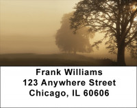 Foggy Riverbank Address Labels | LBZSCE-70
