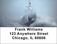Coast Guard During Storm Address Labels | LBZTRA-25
