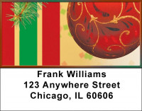 Red Ornaments Address Labels | LBZXMS-33