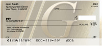 Solid Gold Monograms - G Personal Checks | QBL-92