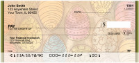 Ornate Egg Art Personal Checks | QBM-97