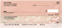 Antique Lace And Hearts Personal Checks | QBR-01