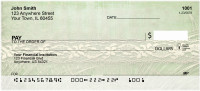 Lace And Dried Grasses Personal Checks | QBR-66
