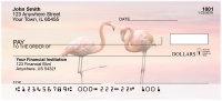Pink Flamingo Personal Checks | ZANJ-59