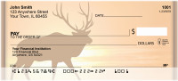 Deer Sunset Silhouettes Personal Checks | ZANK-29
