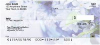Blossoms In Pink and Blue Personal Checks | ZFLO-06