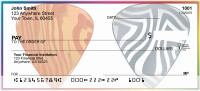 Psychedelic Guitar Pics Personal Checks | ZMUS-09