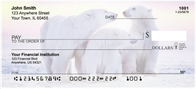 Polar Bears Personal Checks | ANI-13