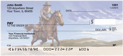 The Wild West Personal Checks | BBA-36