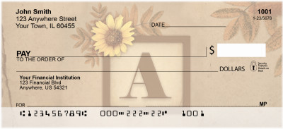 Sunflowers Monogram - A | BBJ-44