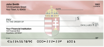 Hungarian Flag Personal Checks | FLA-01