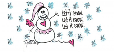 Let It Snow, Let It Snow, Let It Snow! Address Labels by Amy S. Petrik | LBAMY-07
